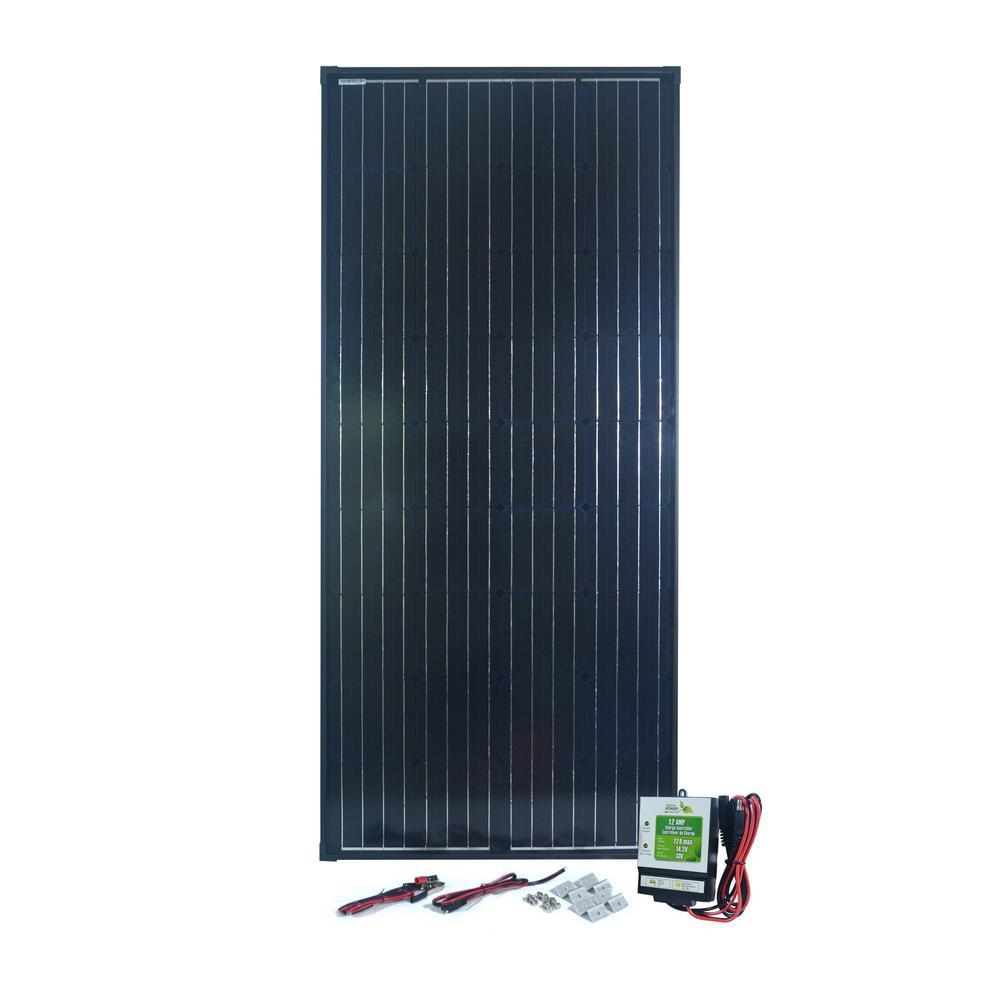 180-Watt Monocrystalline Solar Panel with 12 Amp Charge Controller