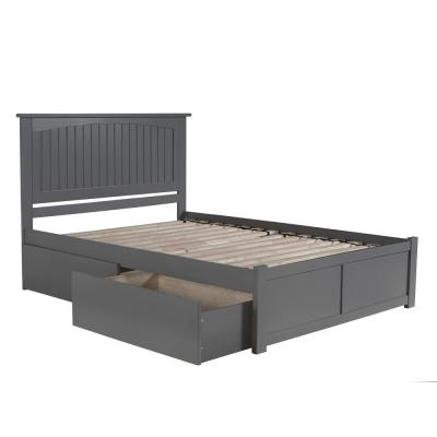 Gray Beds Bedroom Furniture The Home Depot