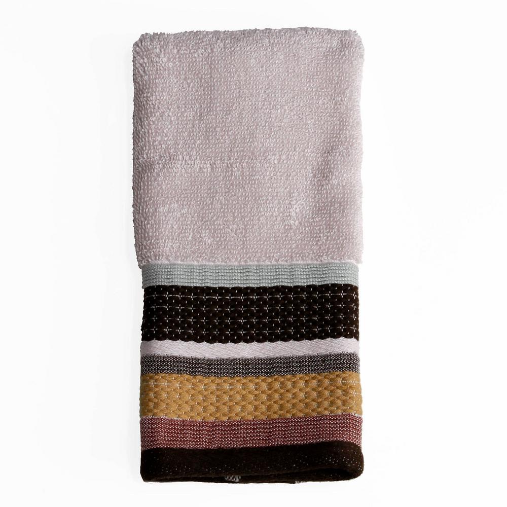 Jessen Stripe Cotton Fingertip Towel in Natural