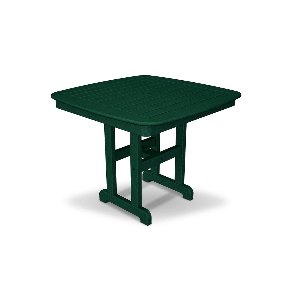 Yacht Club 37 in. Rainforest Canopy Patio Dining Table