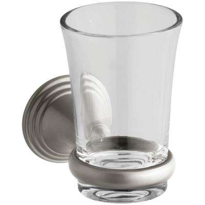 Devonshire 5.125 in. Tumbler and Holder in Vibrant Brushed Nickel