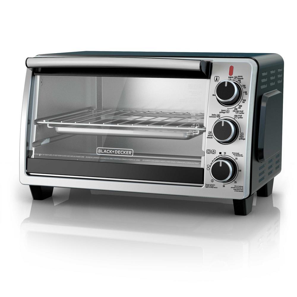 6-Slice in Black Toaster Oven