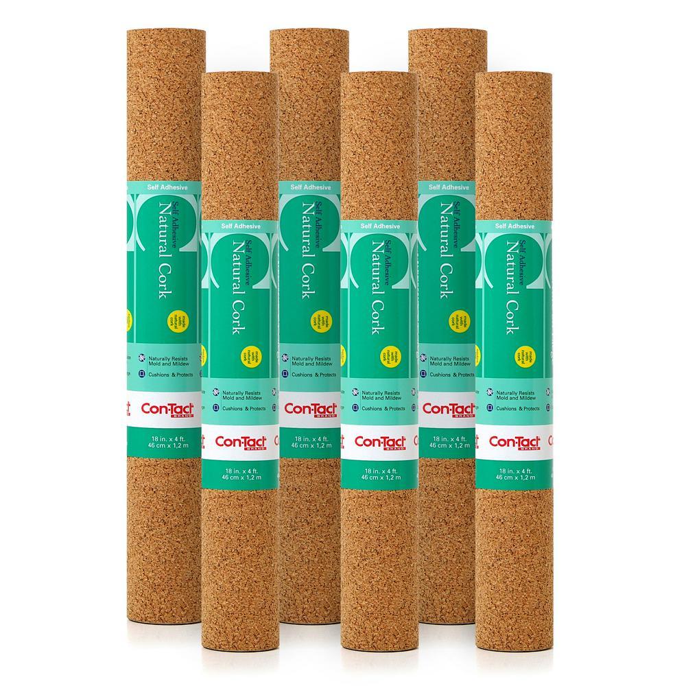Cork Adhesive Shelf Liner (Set of 6)