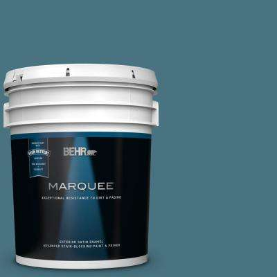 5 gal. #MQ5-26 Hampton Surf Satin Enamel Exterior Paint and Primer in One