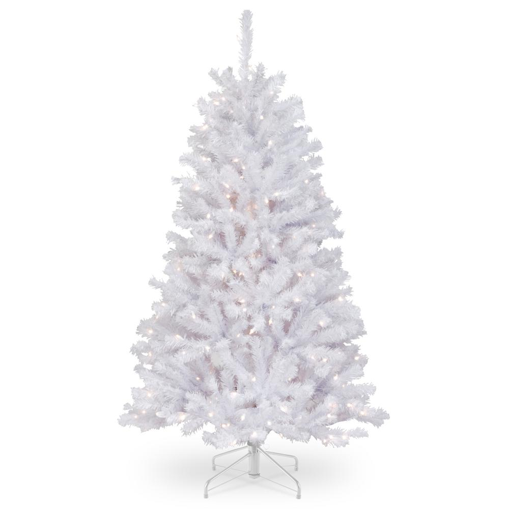 4 Ft White Christmas Trees Artificial: National Tree Company 7.5 Ft. Feel-Real Alaskan Spruce