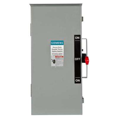 Double Throw 30 Amp 600-Volt 3-Pole Outdoor Non-Fusible Safety Switch