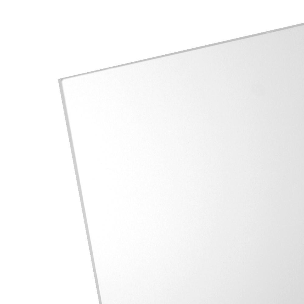 11 in. x 14 in. x 0.050 in. Clear Non-Glare Acrylic