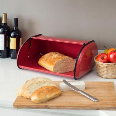 Stainless Steel Bread Storage Box in Red