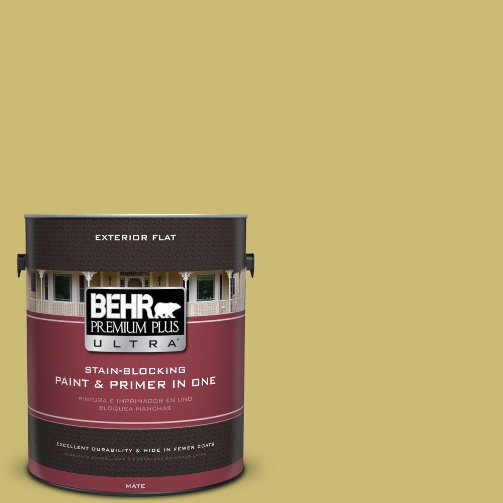 1 gal. #HDC-SP16-02 Pistachio Shortbread Flat Exterior Paint