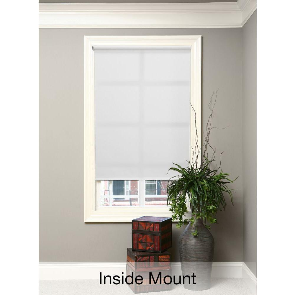 White Cordless Light Filtering 5 mil Vinyl Roller Shade - 46.5