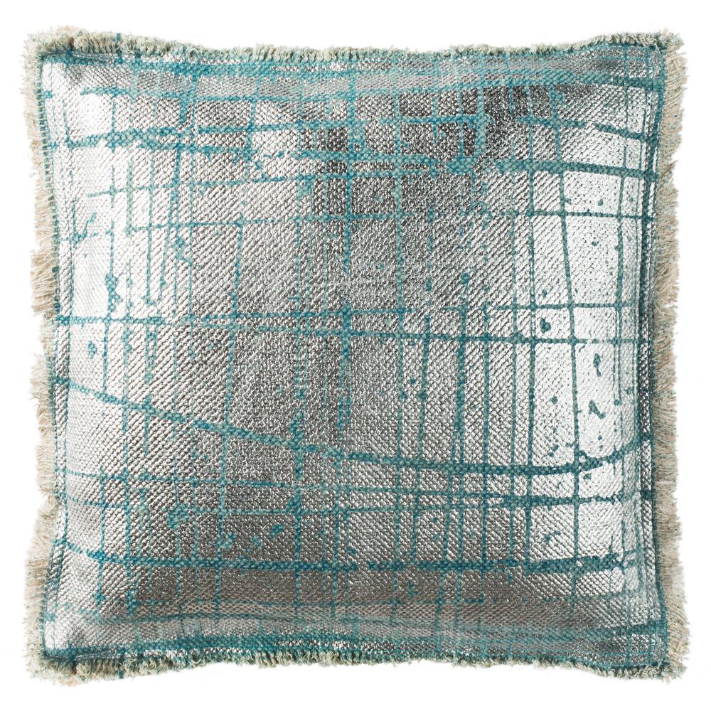 Metallic Grid Printed Patterns Pillow