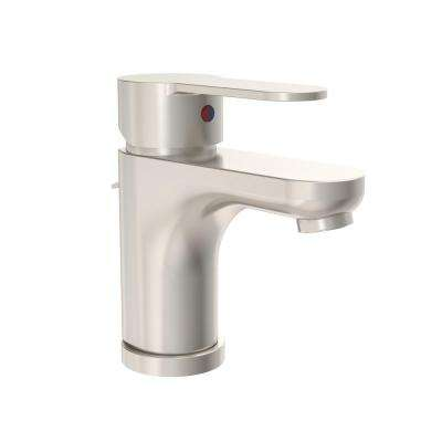 Identity Single Hole Single-Handle Bathroom Faucet with Pop-Up Drain Assembly in Satin Nickel