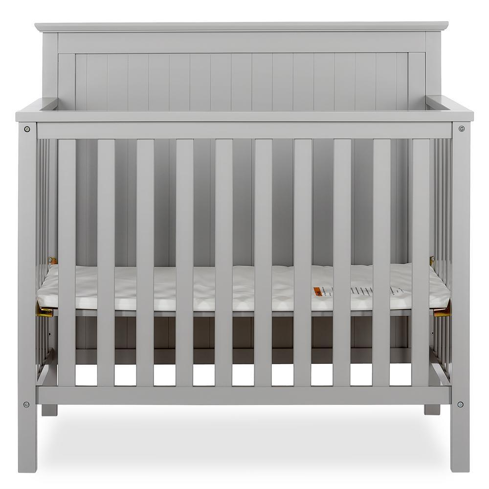 Ava 4-in-1 Pebble Grey Convertible Mini Crib