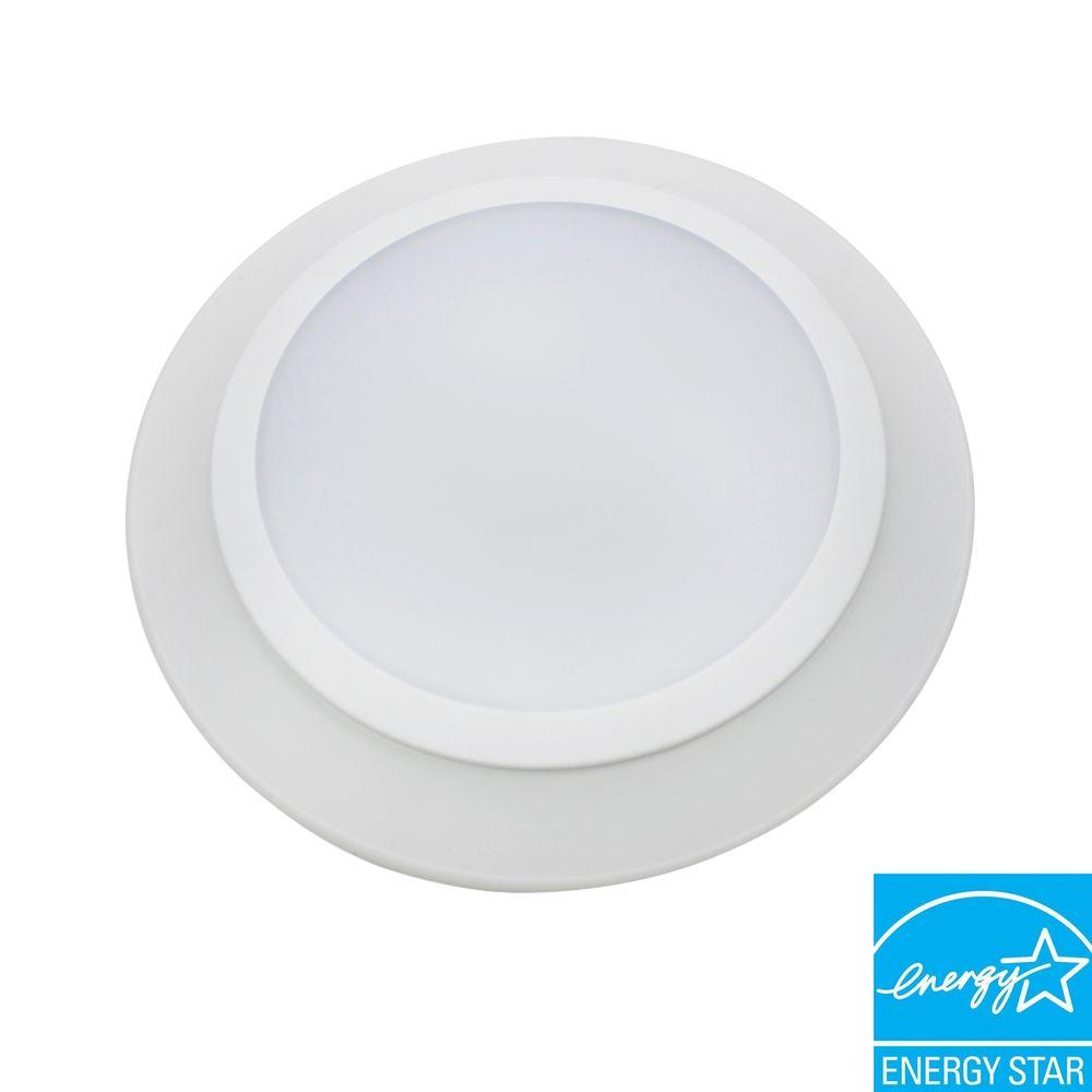 Commercial Electric 6 in. T91 Warm White LED Disk Light For Recessed Can Lighting-DISCONTINUED