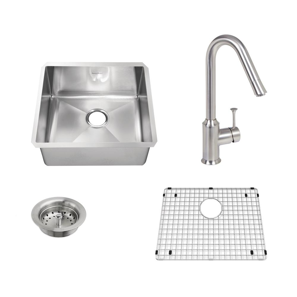 Pekoe All-in-One Undermount Stainless Steel 23 in. Single Bowl Kitchen Sink
