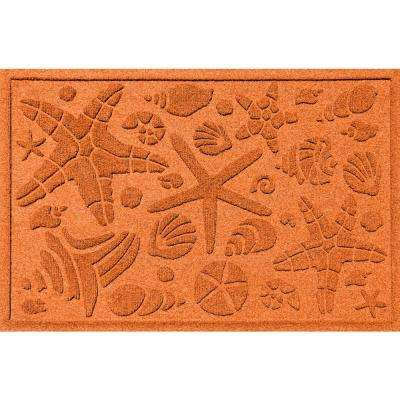 Orange 24 in. x 36 in. Beachcomber Polypropylene Door Mat