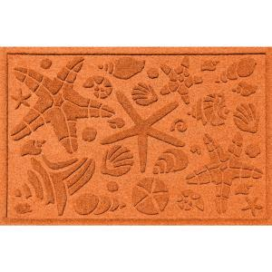 Aqua Shield Orange 24 inch x 36 inch Beachcomber Polypropylene Door Mat by Aqua Shield