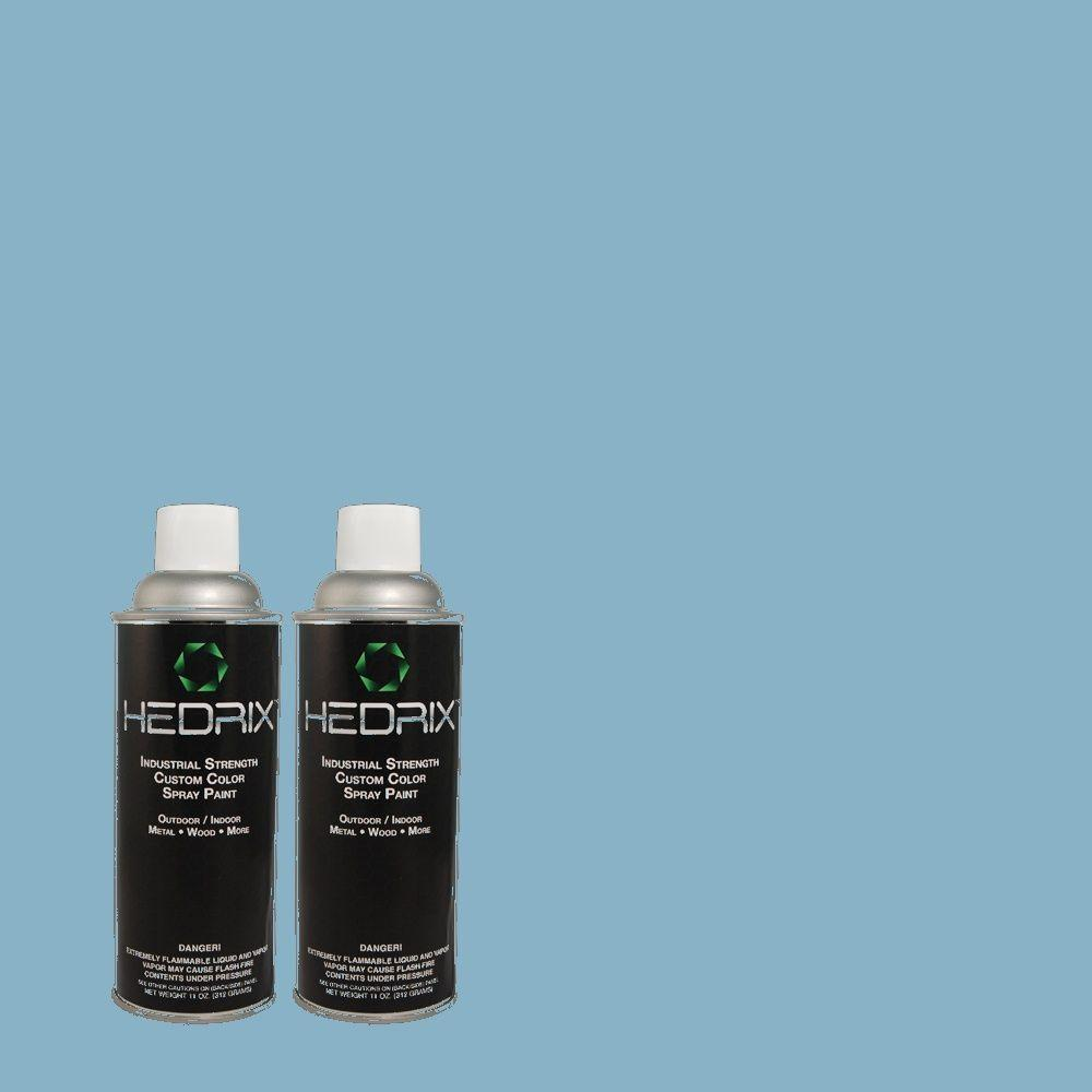 Hedrix 11 oz. Match of 550D-5 Ocean Cruise Flat Custom Spray Paint (2-Pack)
