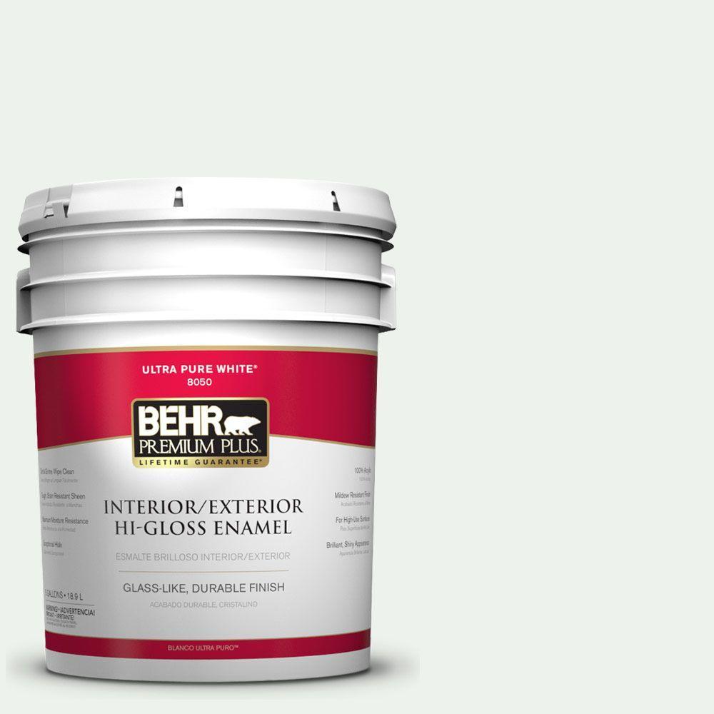 BEHR Premium Plus 5-gal. #W-B-510 Frosted Juniper Hi-Gloss Enamel Interior/Exterior Paint