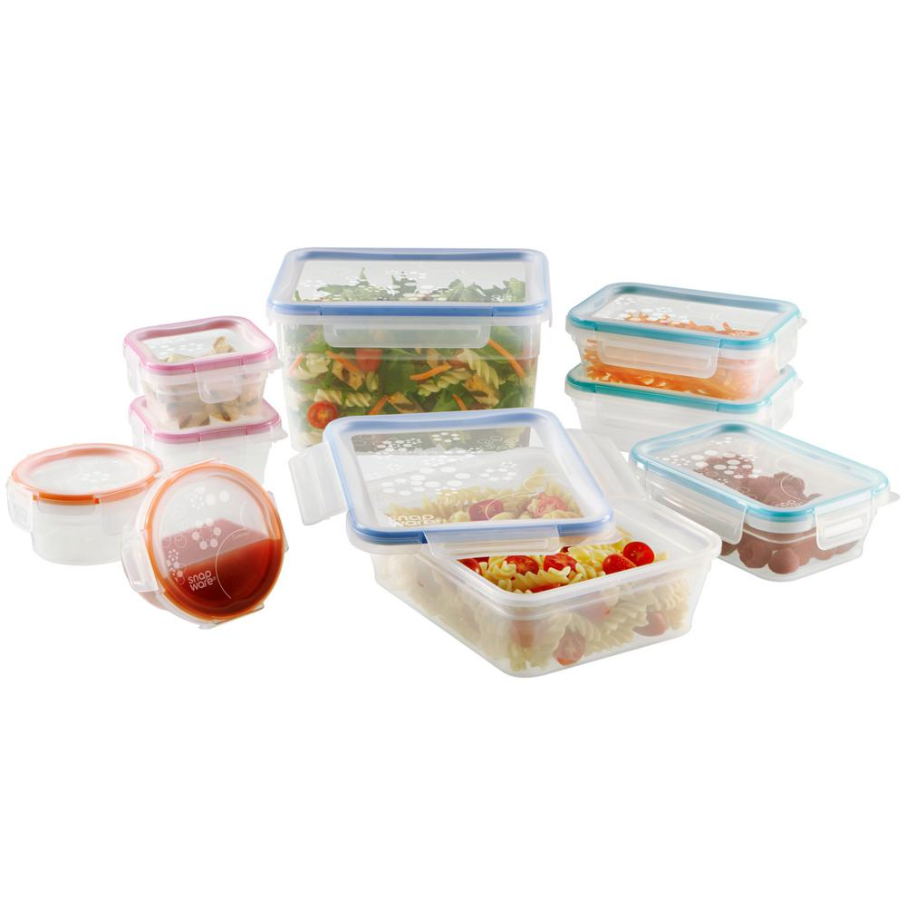 Snapware Total Solution Plastic Food Storage Set With Airtight Lids  (18 Piece)