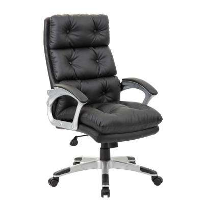 Black Button Tufted Executive Chair