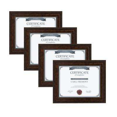 Martinez 8.5 in. x 11 Bronze Picture Frame (Set of 4)