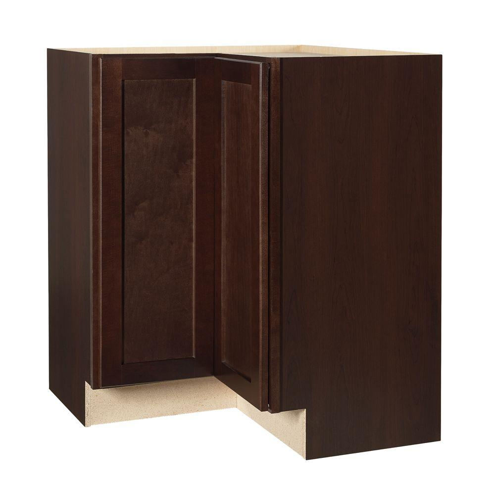 kitchen base corner cabinet hampton bay shaker assembled 28 5x34 5x16 5 in lazy susan 18154