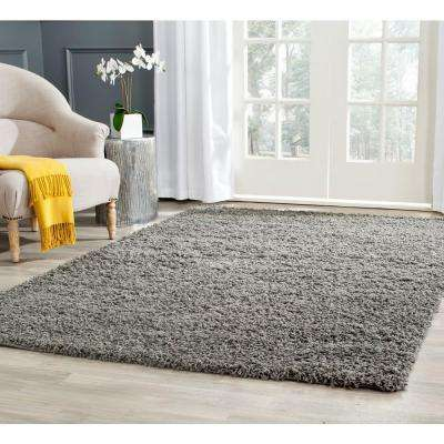 Athens Shag Dark Gray 10 ft. x 14 ft. Area Rug