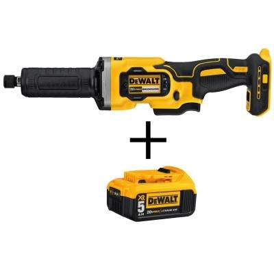 20-Volt MAX Li-Ion Cordless Brushless 1-1/2 in. Variable Speed Die Grinder (Tool-Only) with 20-Volt Li-Ion Battery 5 Ah