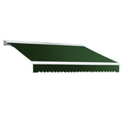 14 ft. DESTIN EX Model Right Motor Retractable with Hood Awning (120 in. Projection) in Forest Green