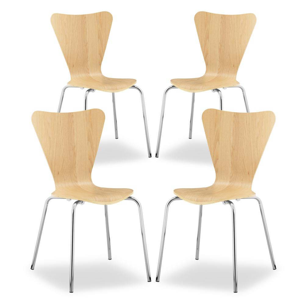 EDGEMOD Brynn Natural Dining Chair (Set of 4) was $367.24 now $220.34 (40.0% off)