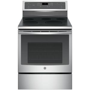 Click here to buy GE Profile 30 inch 5.3 cu. ft. Electric Range with Self-Cleaning Convection Oven in Stainless Steel by GE Profile.