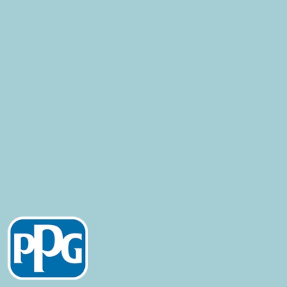 PPG TIMELESS 8 oz. #HDPPGB33D Soft Bahama Blue Semi-Gloss Interior/Exterior Paint Sample