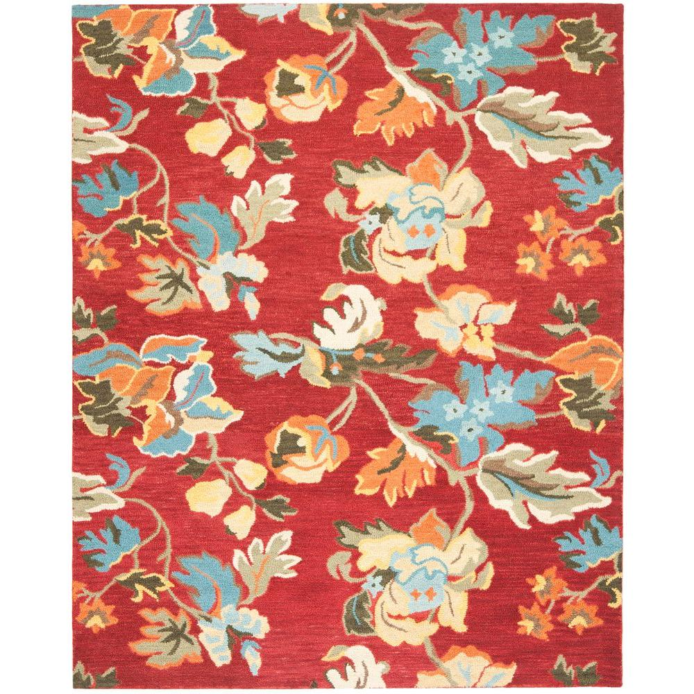 Blossom Red/Multi 8 ft. x 10 ft. Area Rug