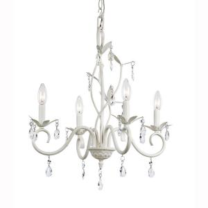 4light white crystal accent chandelier - Chandelier Home Depot