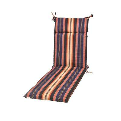 Caprice Stripe Deep Seating Outdoor Chaise Lounge Cushion