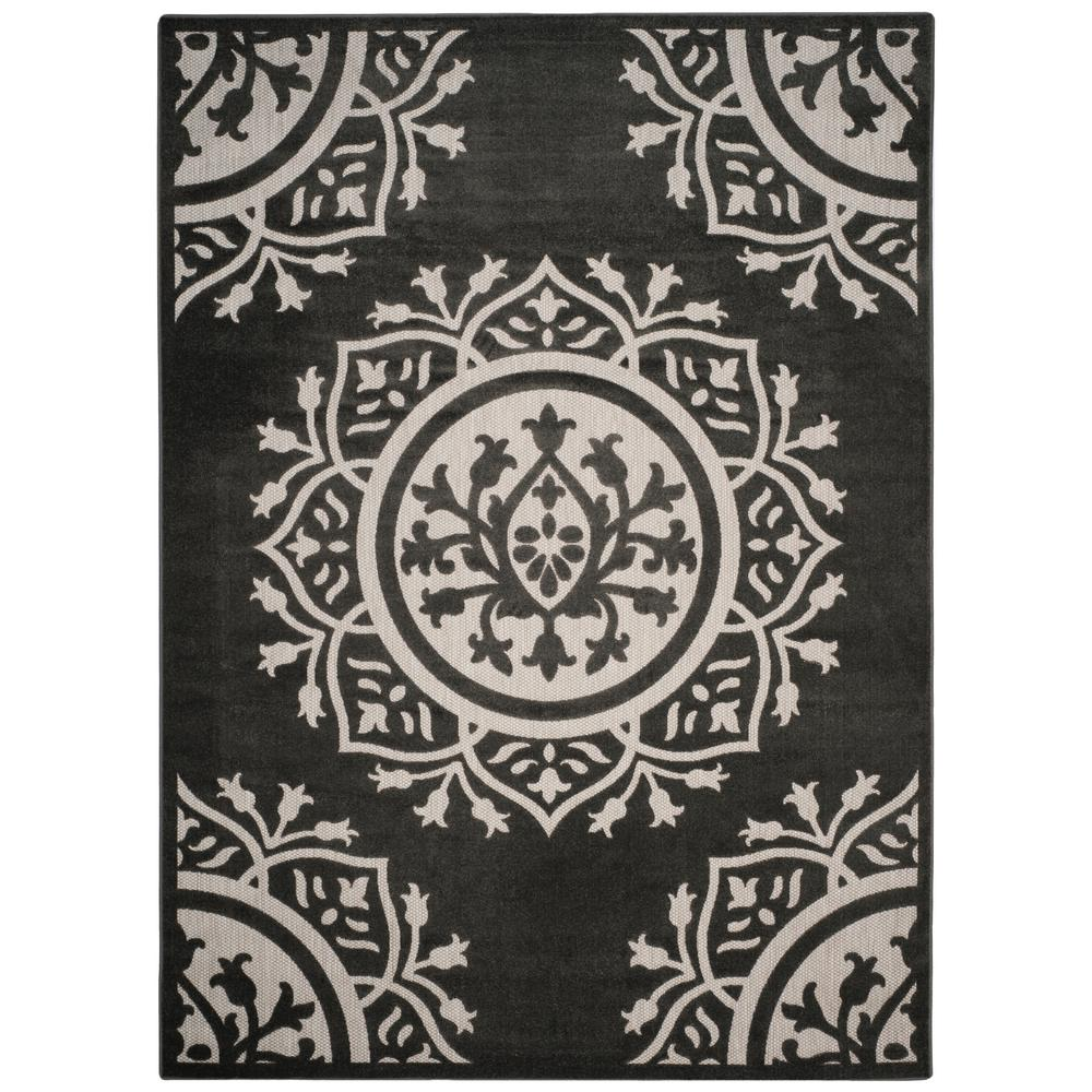 Safavieh Cottage Charcoal Cream 8 Ft X 11 Ft Indoor Outdoor Area