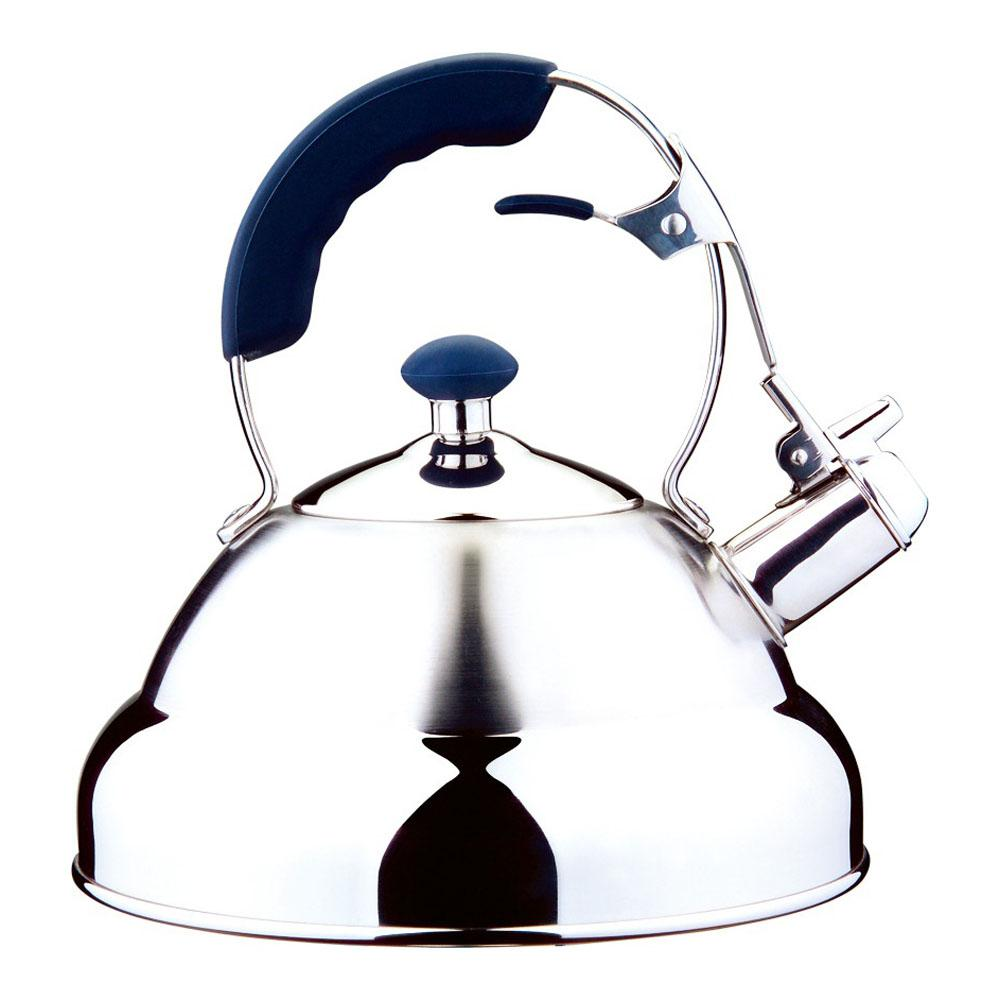 AQUATIC 20-Cup Stainless Steel Whistling Tea Kettle
