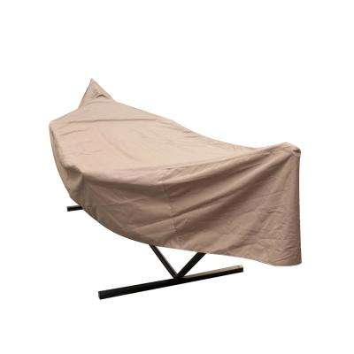 15 ft. Universal Sandstone Hammock Stand Cover Weather-Resistant Protective Cover with Draw Strings