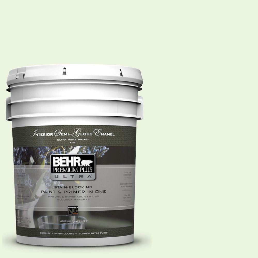 BEHR Premium Plus Ultra 5-gal. #430C-1 White Willow Semi-Gloss Enamel Interior Paint