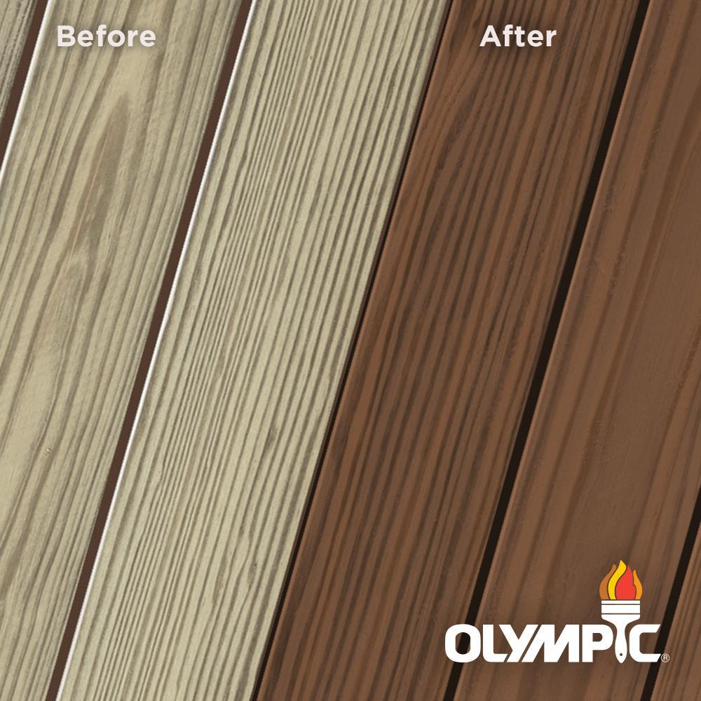 Olympic Elite 3 Gal. Canyon Sunset Semi-Solid Exterior Wood Stain and Sealant in One