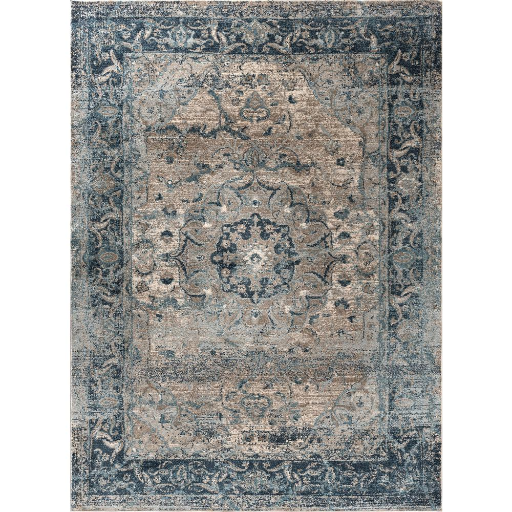 Tayse Rugs Winslow Indigo 7 Ft 10 In X 10 Ft 3 In Area