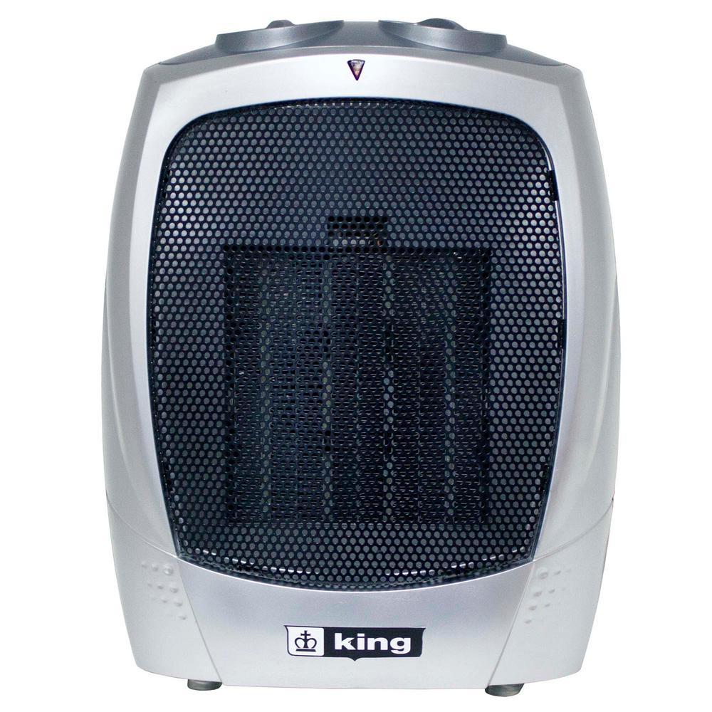 120 Volt Portable Electric Ceramic Heater In Gray