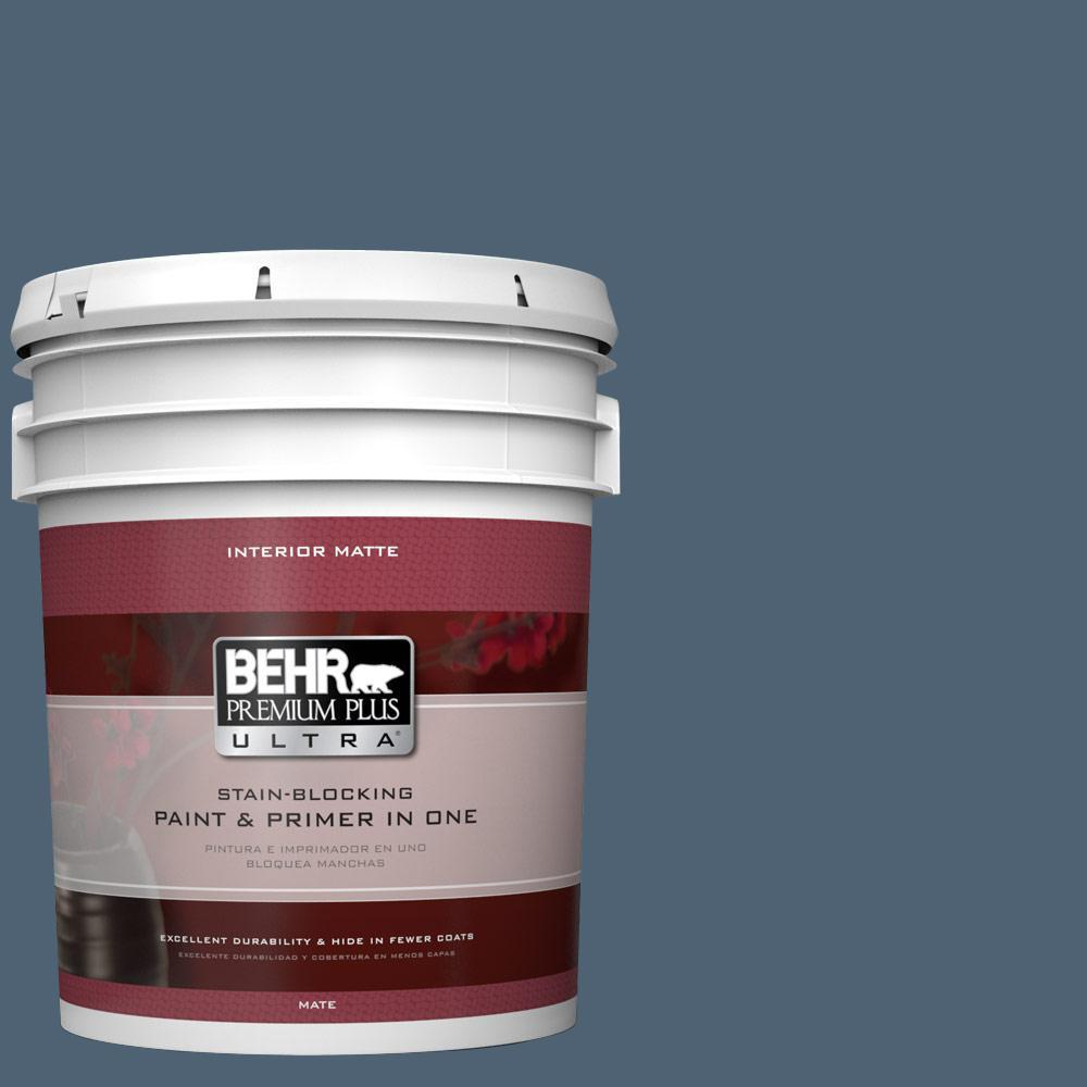 BEHR Premium Plus Ultra 5 gal. #T17-17 Midnight Show Matt...