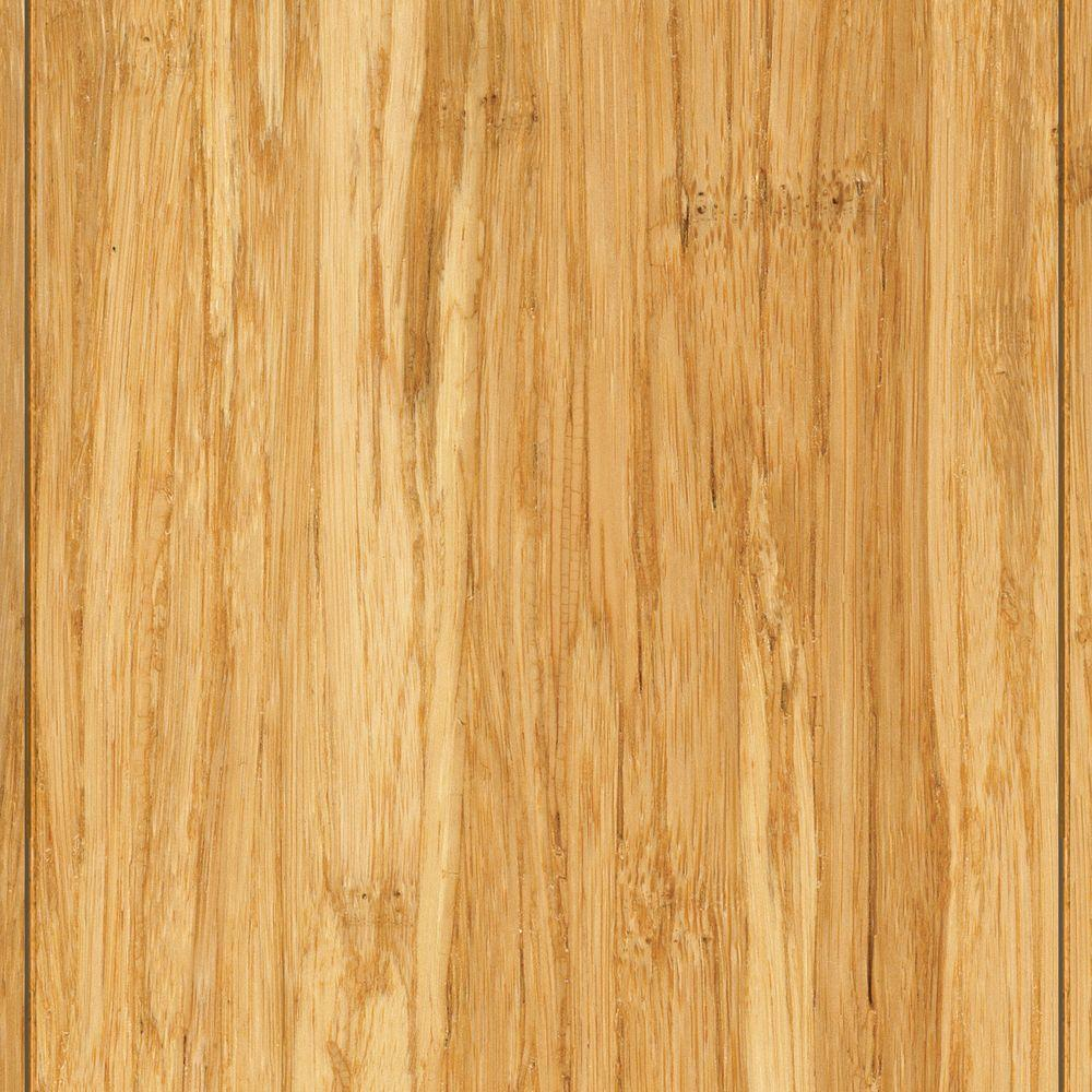 Wire Brushed Strand Woven Lyndon 3/8 in. T x 3-7/8 in. W x 36-1/4 in. Length Solid Bamboo Flooring (23.41 sq. ft. /case), Light