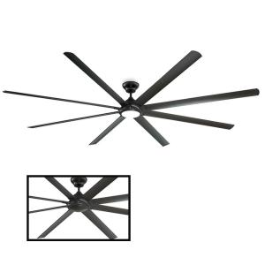 Hydra 120 in. LED Indoor/Outdoor Bronze 8-Blade Smart Ceiling Fan with 3000K Light Kit and Wall Control