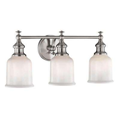 Palermo 3-Light Satin Nickel Sconce with Opal Glass