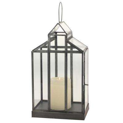15.5 in. Pewter Metal Lantern