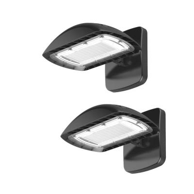 350-Watt Equivalent Integrated Outdoor LED Flood Light with Wall Pack Mount, 5500 Lumens, Dusk to Dawn Light (2-Pack)