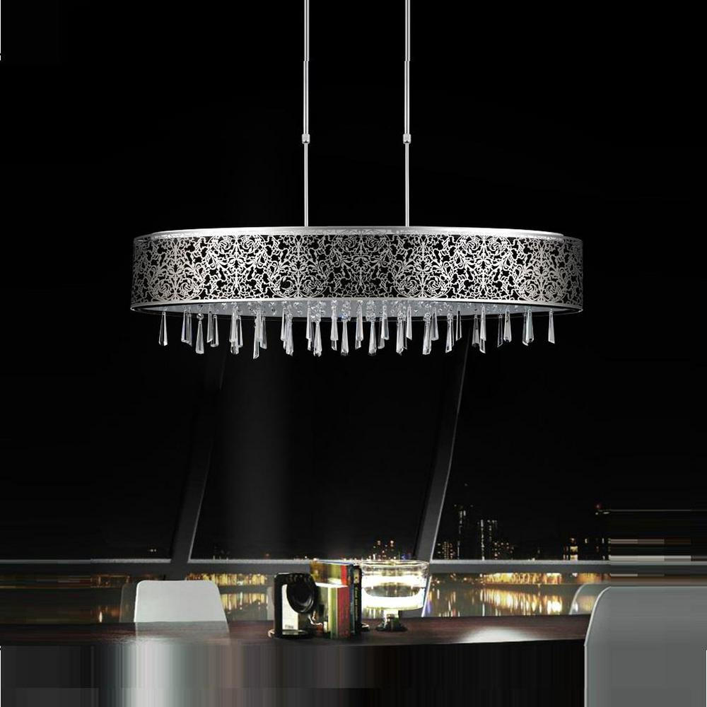 Crystal world inc tresemme 7 light satin nickel chandelier with crystal world inc tresemme 7 light satin nickel chandelier with black shade arubaitofo Image collections